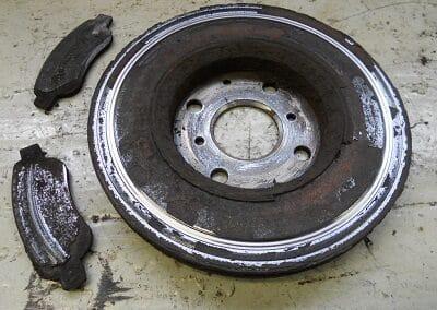 Bremser som ikke har været renset