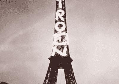 Eiffeltårnet med Citroen skilt